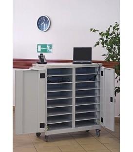 Wózek szafka na laptopy i tablety WNL 208 metalowe, ładowanie 16 laptopów