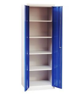 Metalowa szafa gospodarcza SMD 60, 2-drzwiowa na cokole.