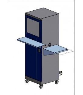 Szafa na komputer przemysłowy na kółkach SMK 2 A z półką
