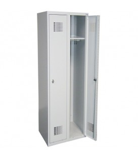 Szafa ubraniowa Sum 320 W, zamek ryglujący drzwi w trzech pkt