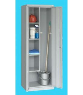 Metalowa szafa gospodarcza SMD 62, 2-drzwiowa na cokole.